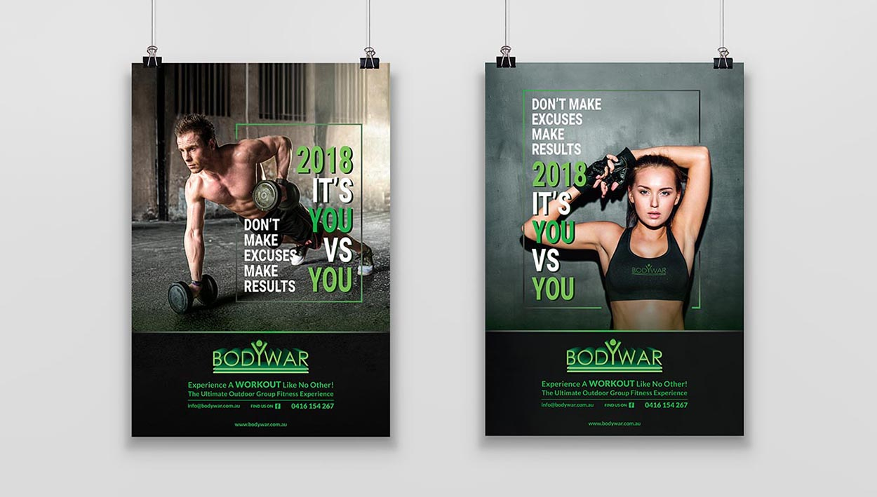 Bodywar Outdoor Group Fitness | Creative Design Projects