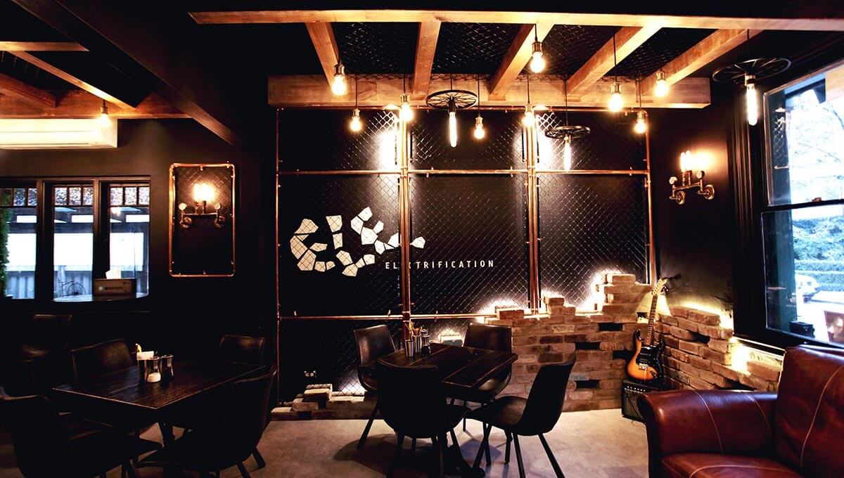 Electrification cafe branding design by Meld - Interior design