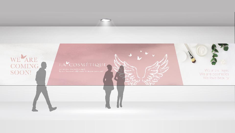 Lacosmetique Beauty Hoarding Designed by Meld