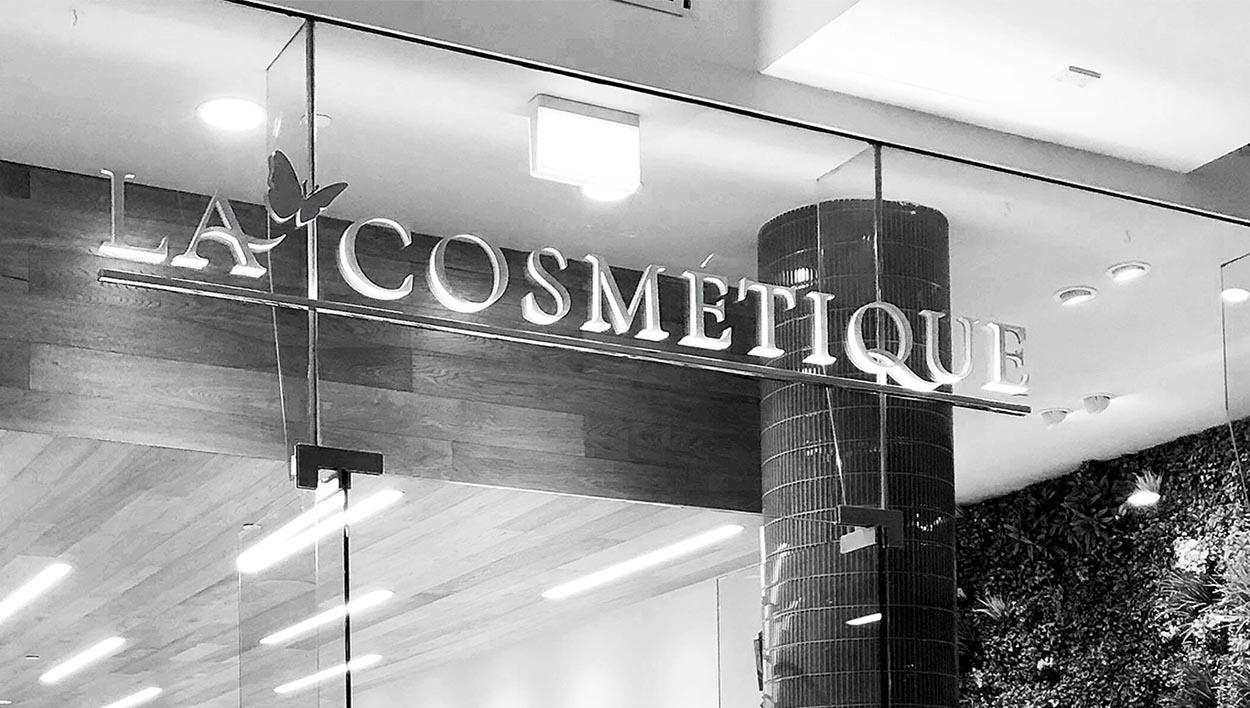 Lacosmetique Beauty Signage Designed by Meld