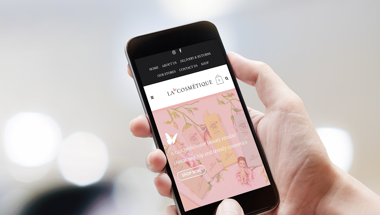 Lacosmetique Beauty Smart Phone Website Designed by Meld