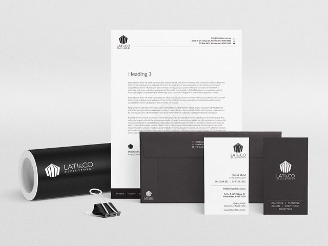 Lati & Co Project Management branding package by Meld