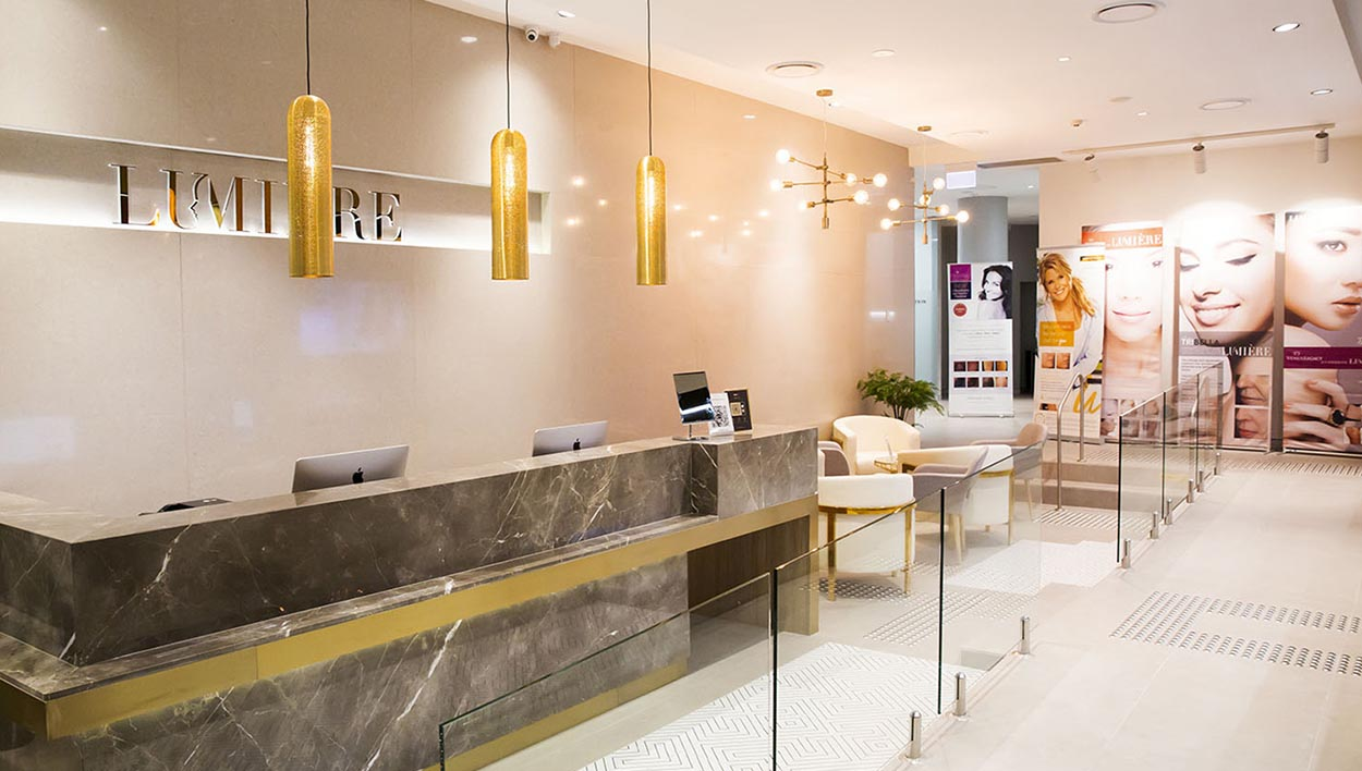 Lumiere Cosmetic Clinic Reception Designed by Meld