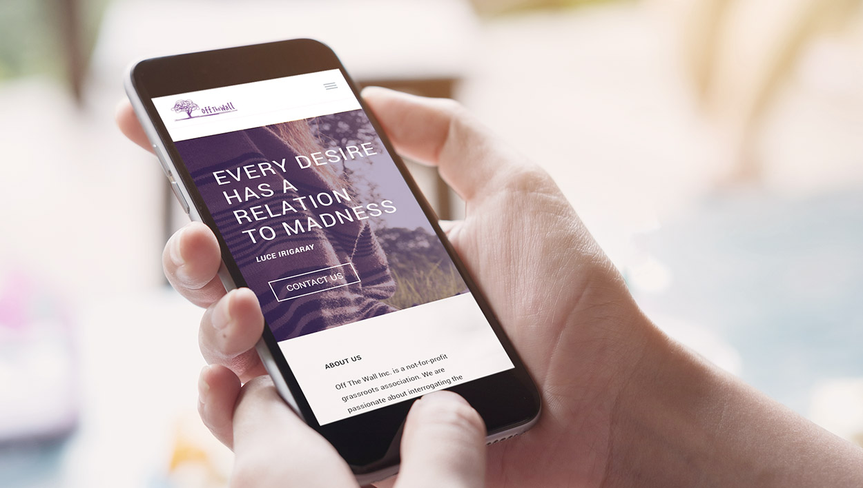Off The Wall Mental Health Website Phone Design