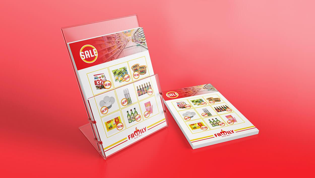 Set of brochures of Family Asian Mart