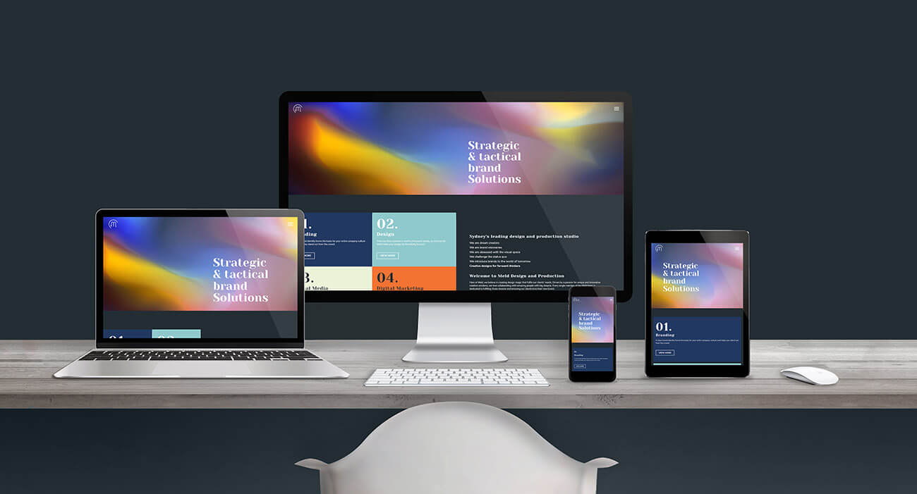 Responsive Website Layout Designed By Meld