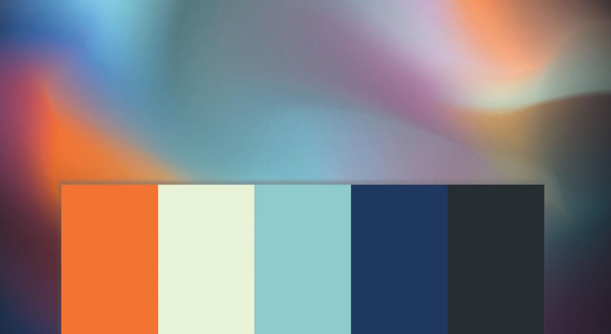Meld Design and Production branding colour palette