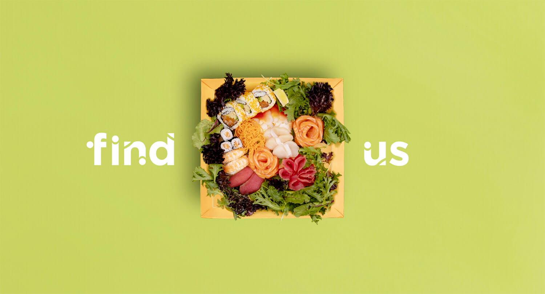 Sushi Hub animation Advertisement animation showing a sushi platter