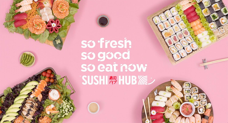 Sushi Hub assortment of sushi platters